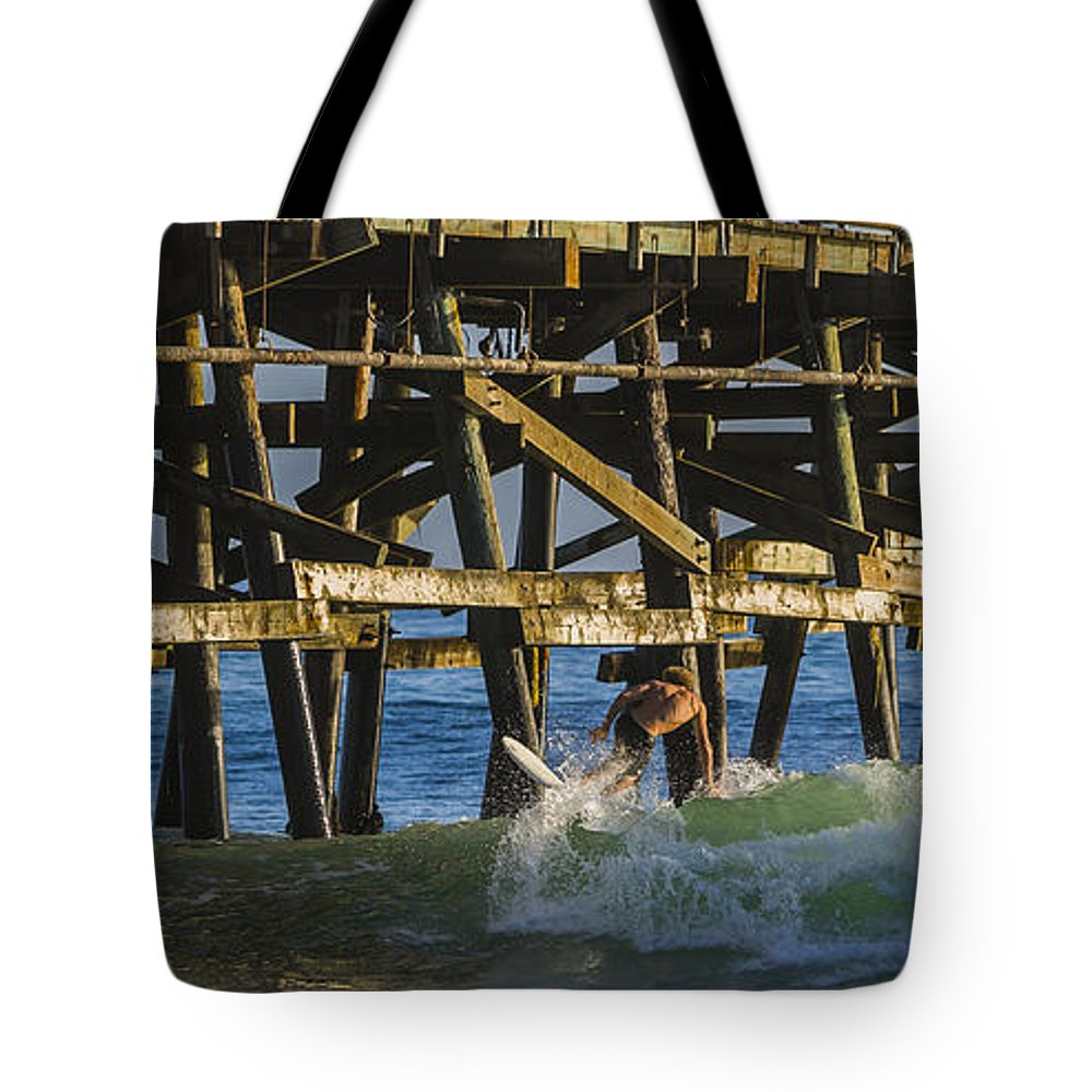 Surfing Tote Bag featuring the photograph Surfer Dude 5 by Scott Campbell