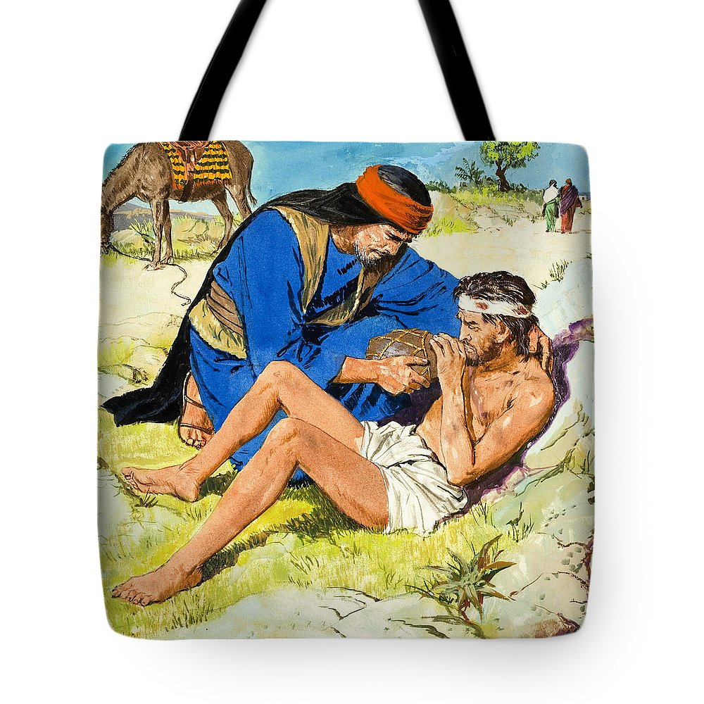 the good samaritan tote bag for sale by clive uptton