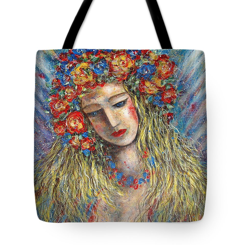 Painting Tote Bag featuring the painting The Loving Angel by Natalie Holland