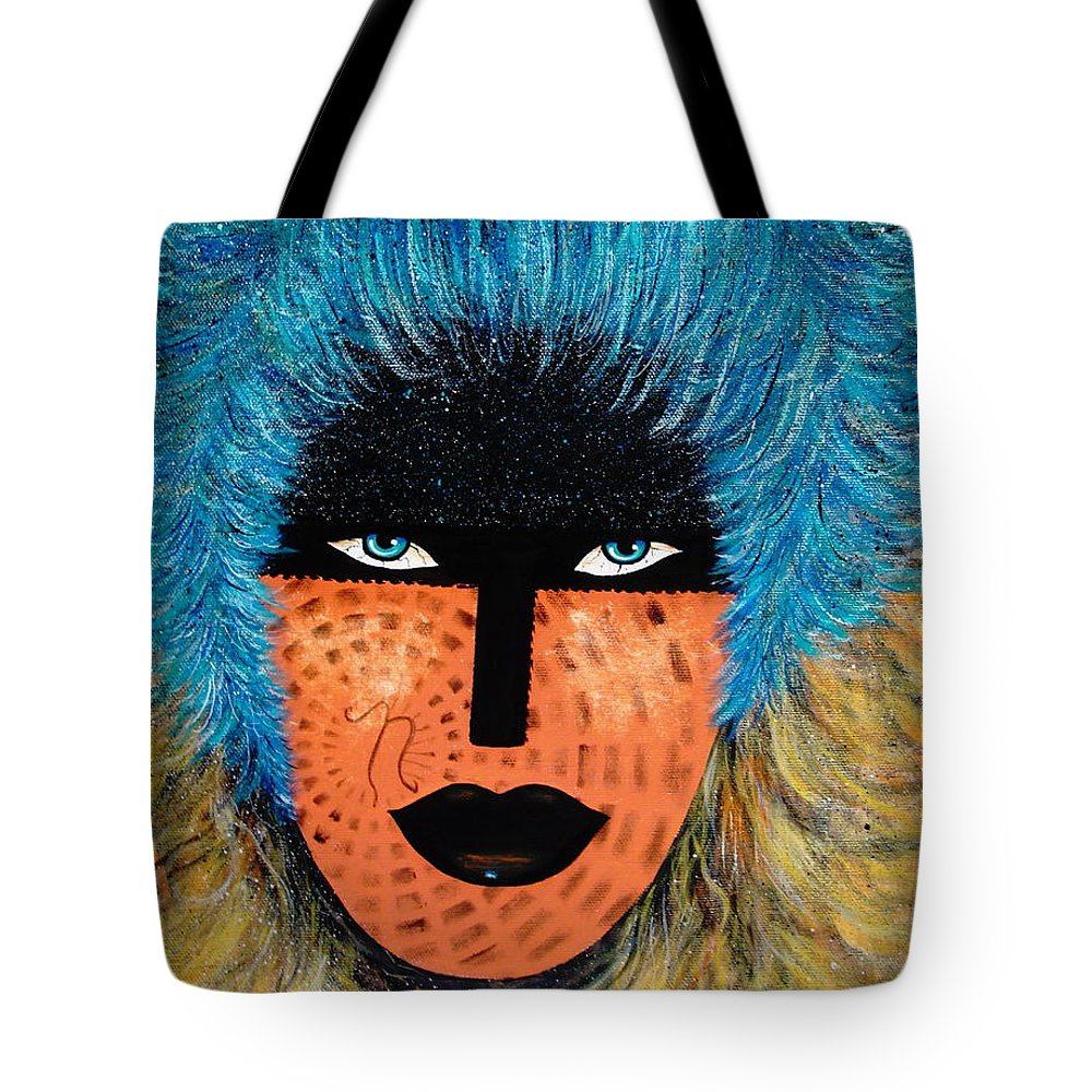 Woman Tote Bag featuring the painting Viva Niva by Natalie Holland