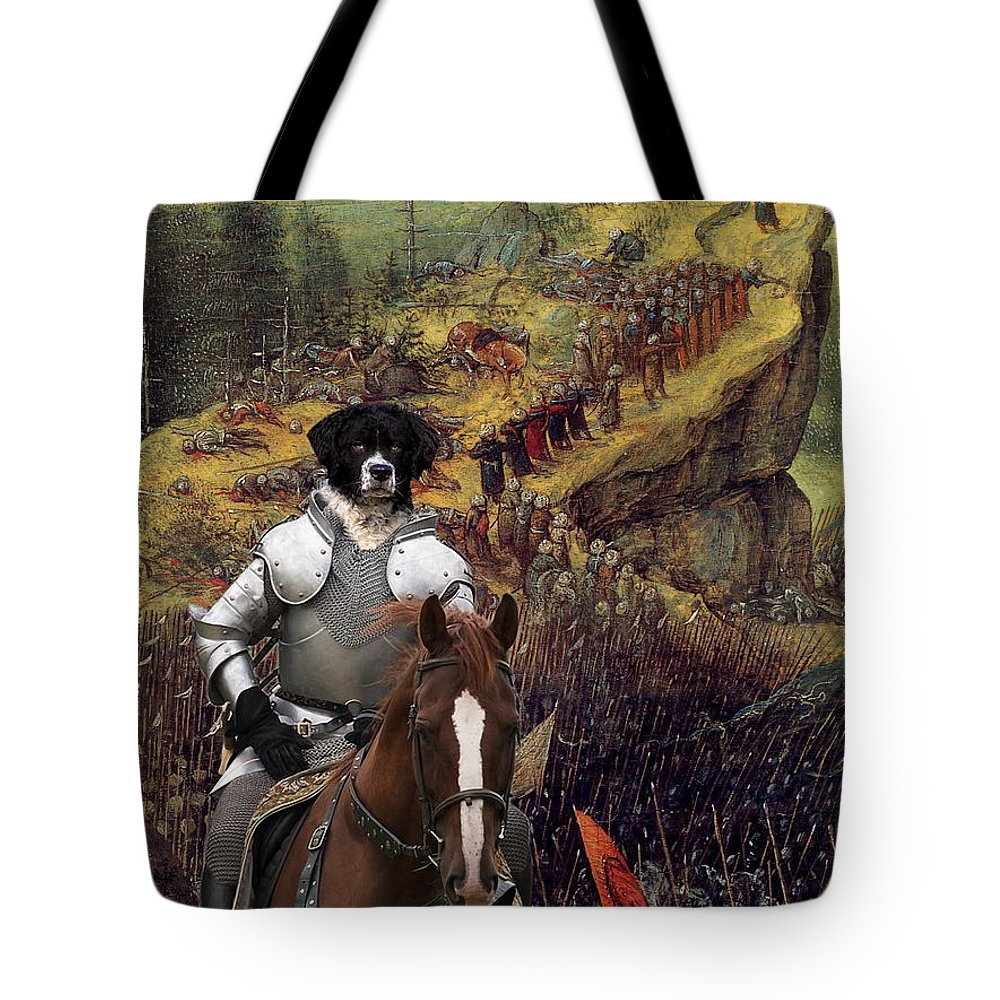 Wetterhoun Tote Bag featuring the painting Wetterhoun Art Canvas Print by Sandra Sij