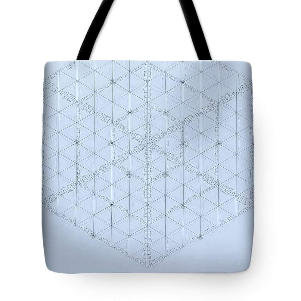 Energy Tote Bag featuring the drawing Why Energy Equals Mass Times the Speed of Light Squared by Jason Padgett