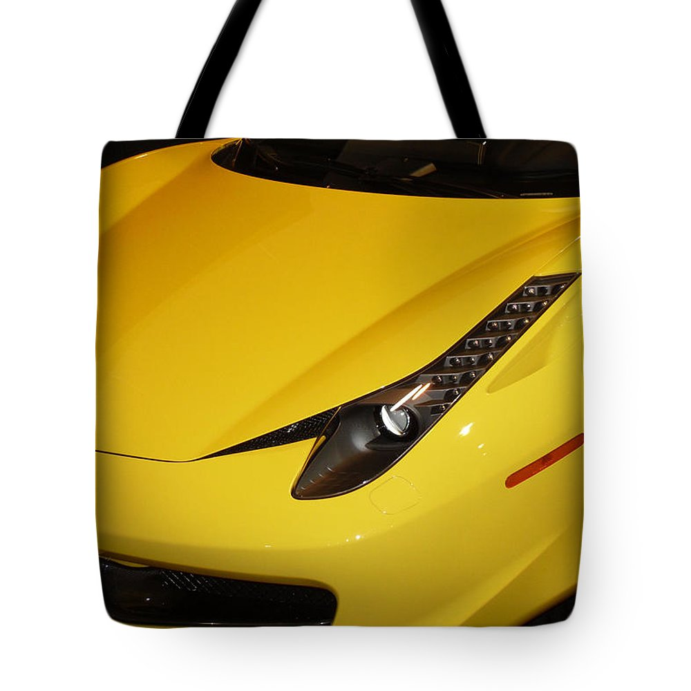 Ferrari Tote Bag featuring the photograph Yellow by Joe Hamilton