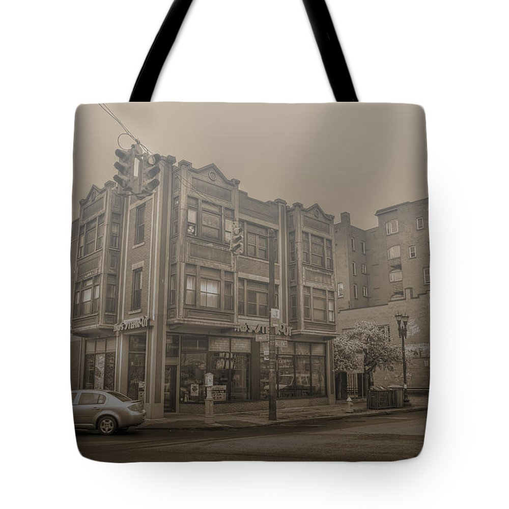 Allentown Tote Bag featuring the photograph 001 Jims Steakout Alt by Michael Frank Jr