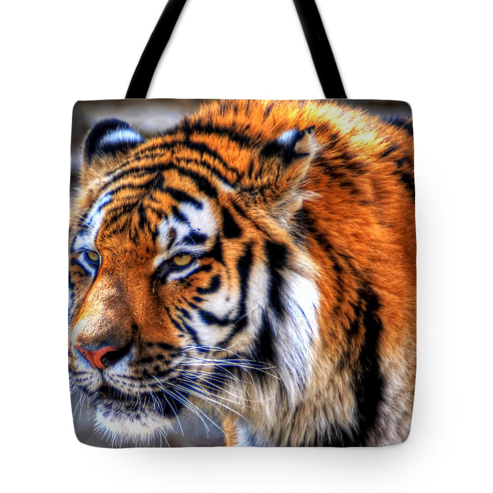 Animals Tote Bag featuring the photograph 0011 Siberian Tiger by Michael Frank Jr