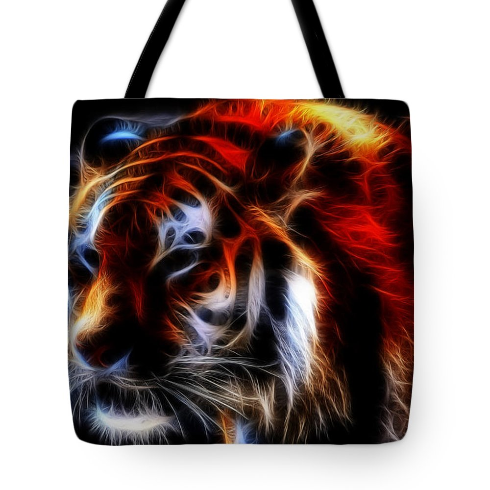 Animals Tote Bag featuring the photograph 0012 Siberian Tiger by Michael Frank Jr