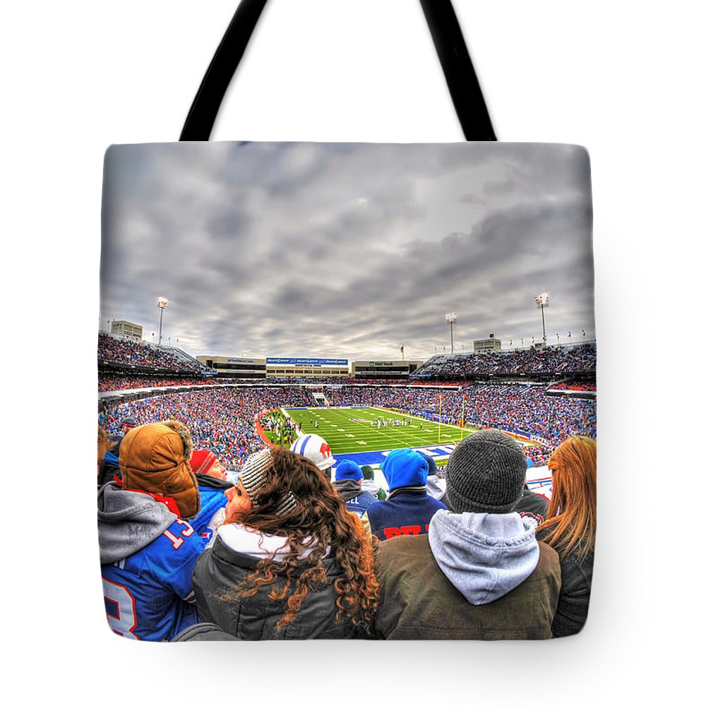 Buffalo Tote Bag featuring the photograph 0017 Buffalo Bills Vs Jets 30dec12 by Michael Frank Jr