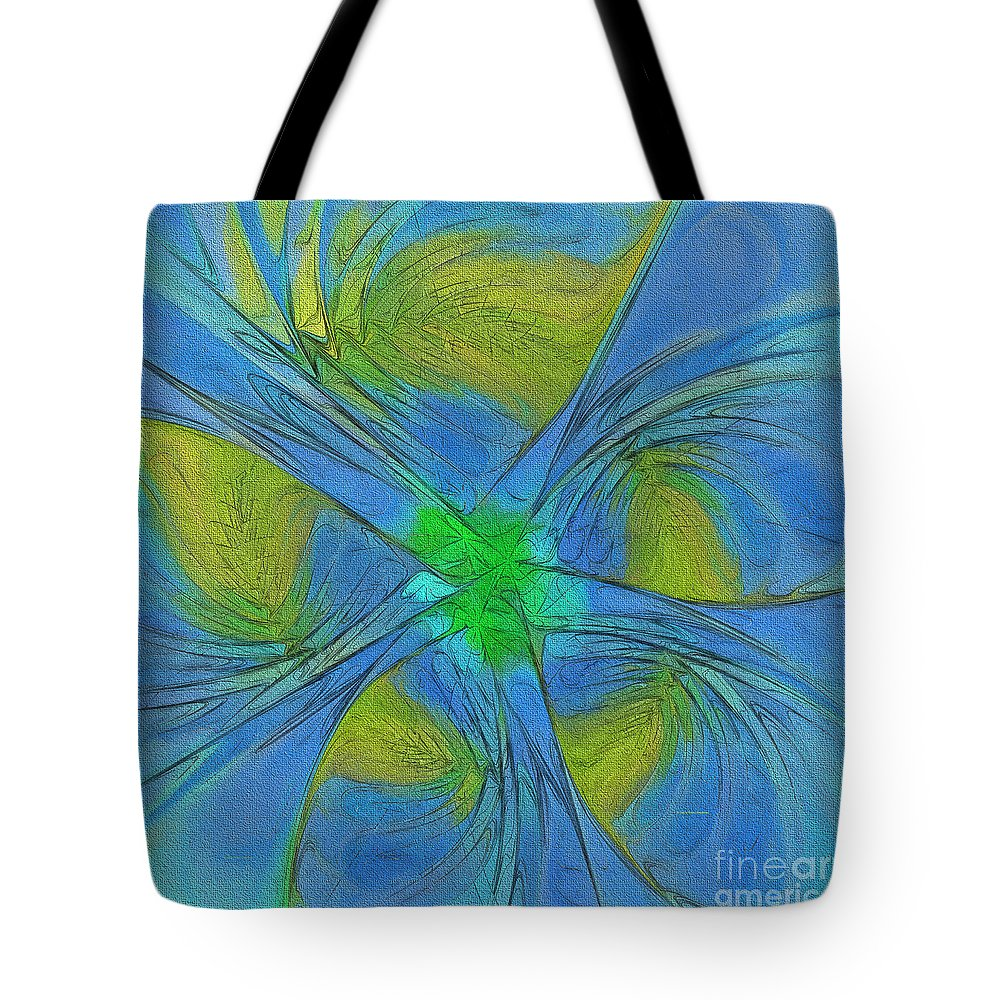 Shape Tote Bag featuring the painting 004 Abstract by Deborah Benoit