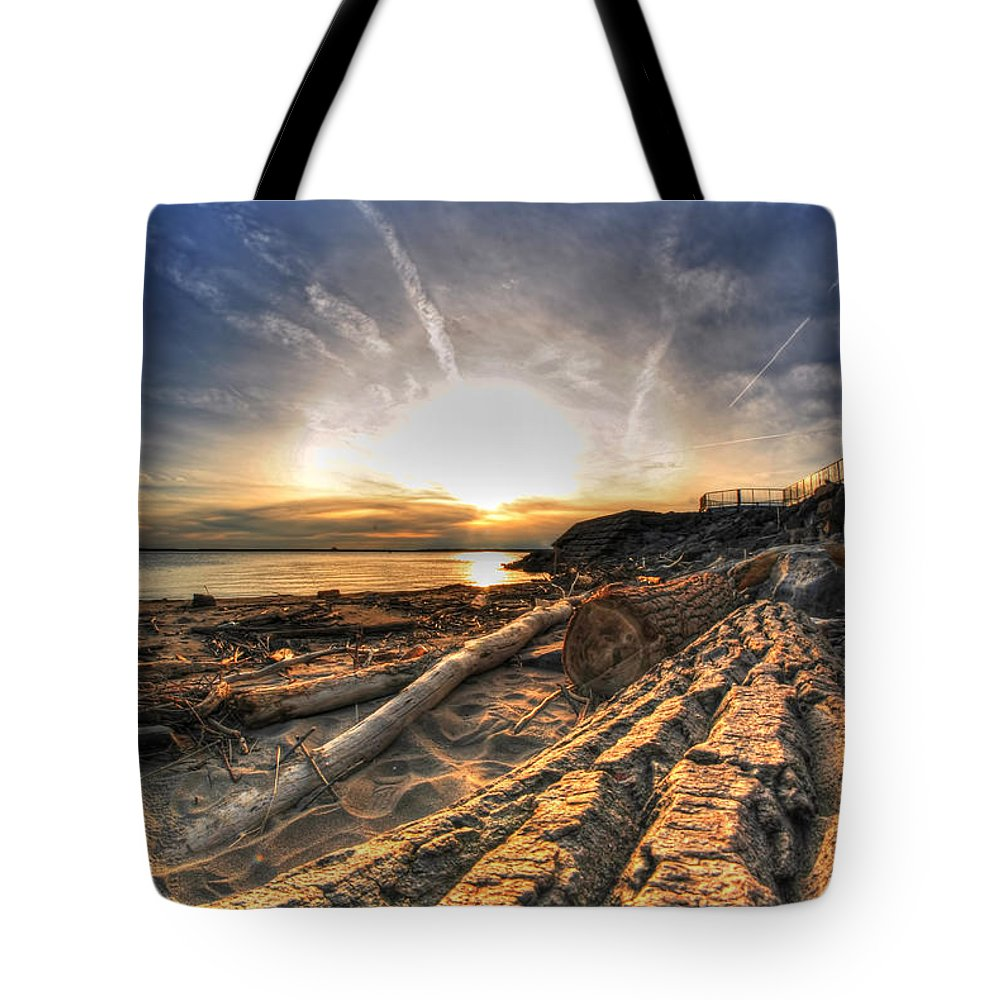 Water Tote Bag featuring the photograph 005 After The Ice Melts Erie Basin Marina Series by Michael Frank Jr