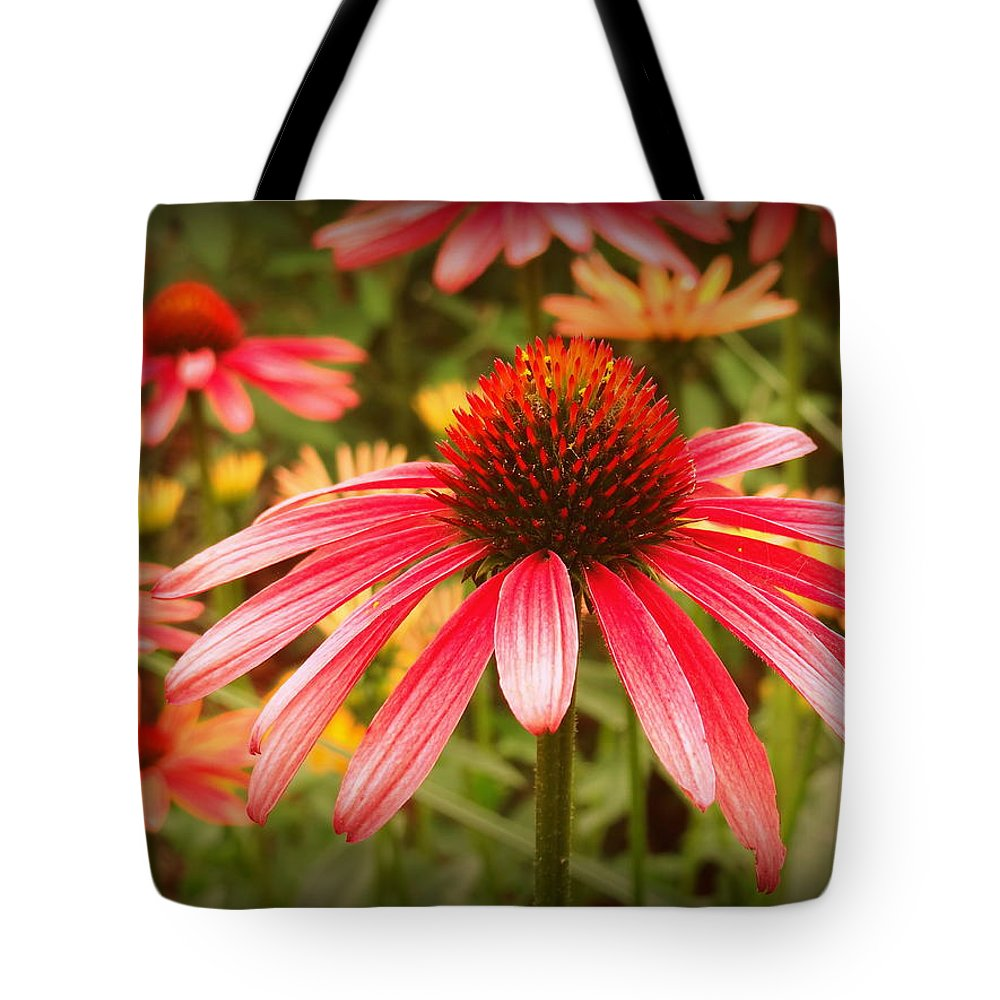 Pink Tote Bag featuring the photograph 0086 by Onyx Armstrong