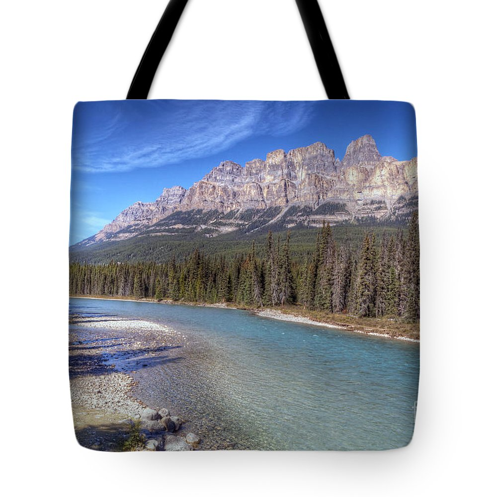 Castle Tote Bag featuring the photograph 0149 Castle Mountain by Steve Sturgill