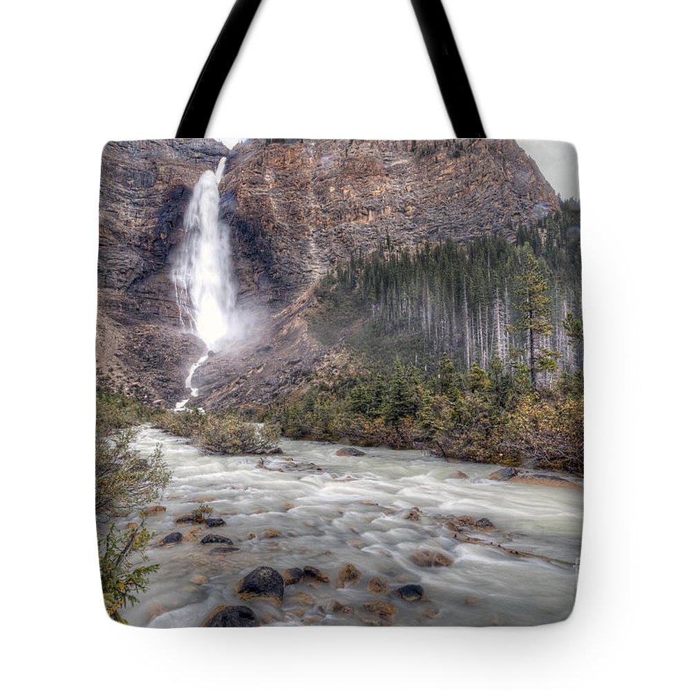 Takakkaw Tote Bag featuring the photograph 0163 Takakkaw Falls by Steve Sturgill