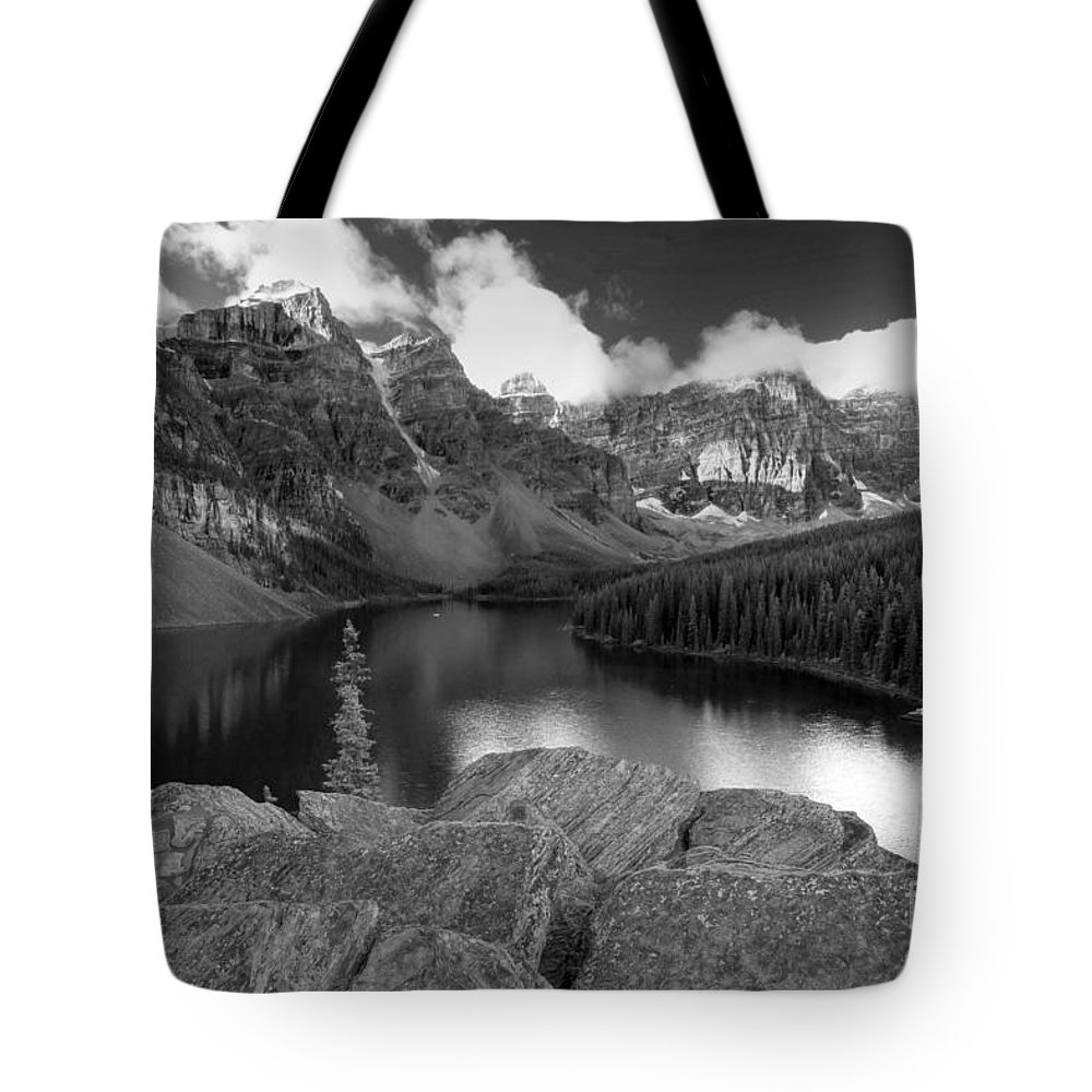 Moraine Tote Bag featuring the photograph 0166 Moraine Lake by Steve Sturgill