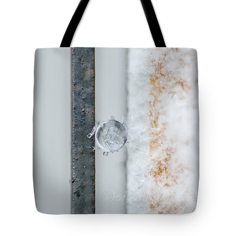 Sleet And Freezing Rain Tote Bag featuring the photograph 022b by Rrea Brown