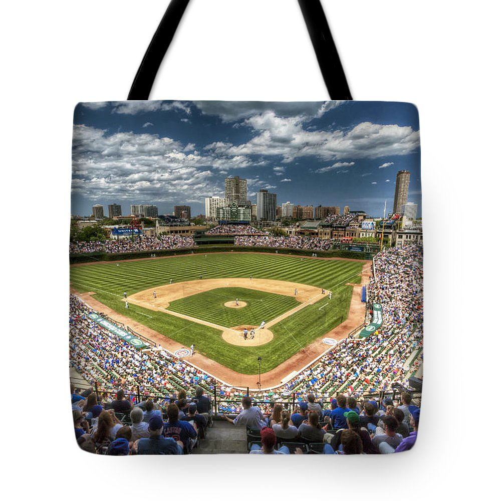 Wrigley Field Tote Bags