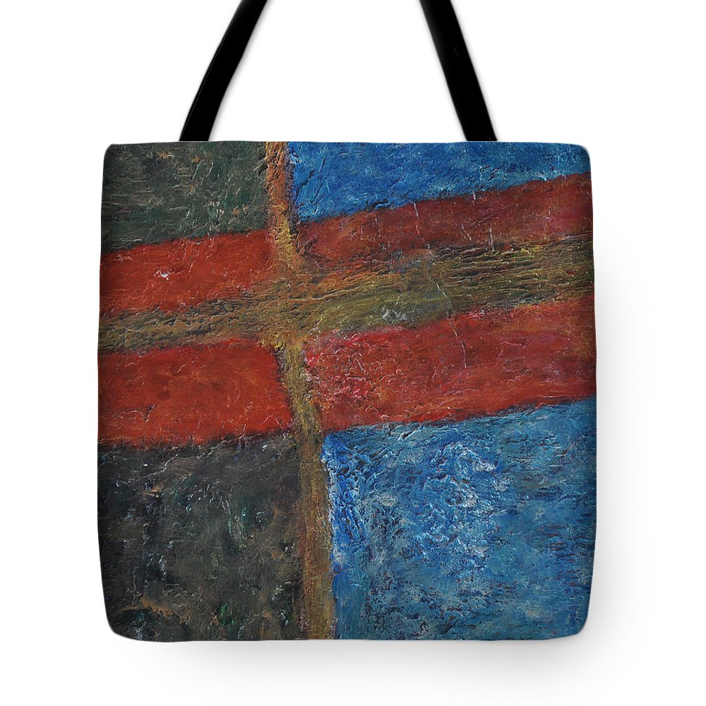 Abstract Tote Bag featuring the painting 047 Abstract Thought by Chowdary V Arikatla