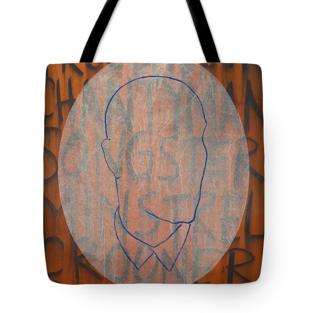 Troubadour Tote Bag featuring the painting 099.06 Troubadour by Steve Briscoe