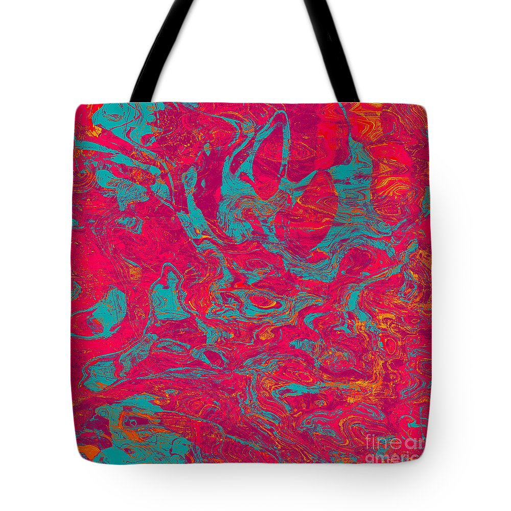 Abstract Tote Bag featuring the digital art 0217 Abstract Thought by Chowdary V Arikatla