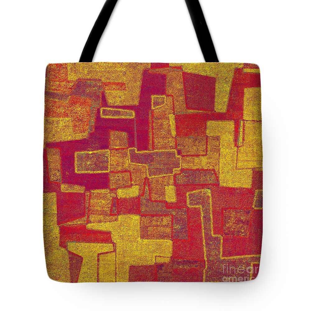 Abstract Tote Bag featuring the digital art 0296 Abstract Thought by Chowdary V Arikatla