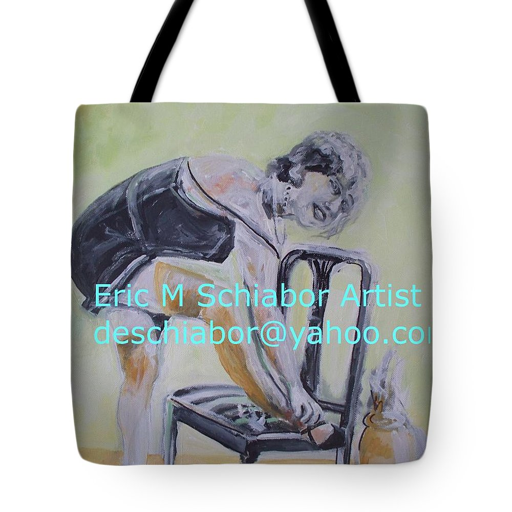 Twenties Tote Bag featuring the painting 1920s Girl by Eric Schiabor