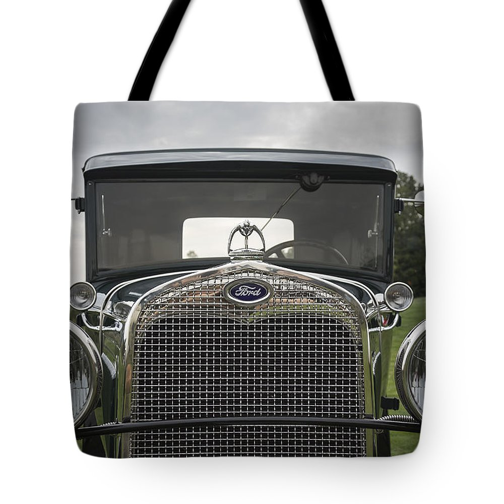 Antique Tote Bag featuring the photograph 1930 Ford Model A by Jack R Perry