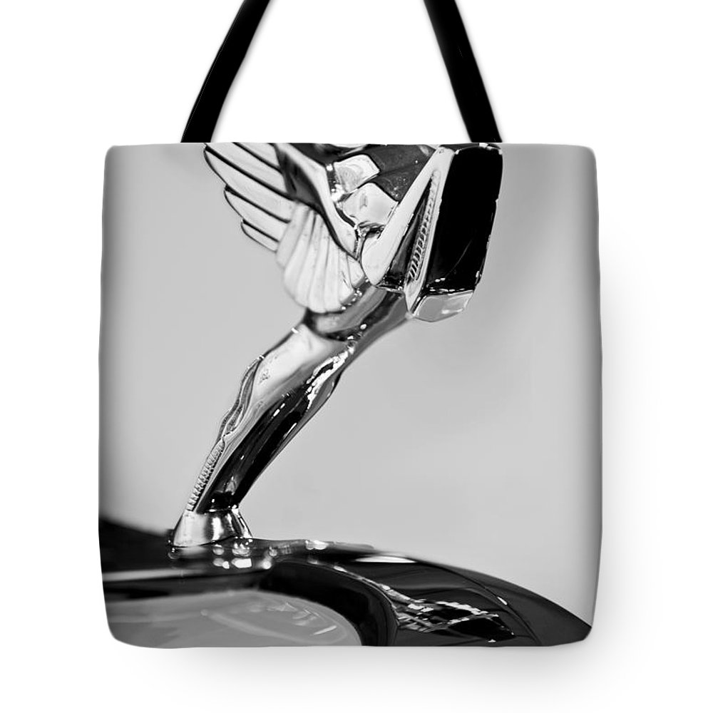 1931 Cord L-29 Legrande Speedster Hood Ornament Tote Bag featuring the photograph 1931 Cord L-29 Legrande Speedster Hood Ornament by Jill Reger