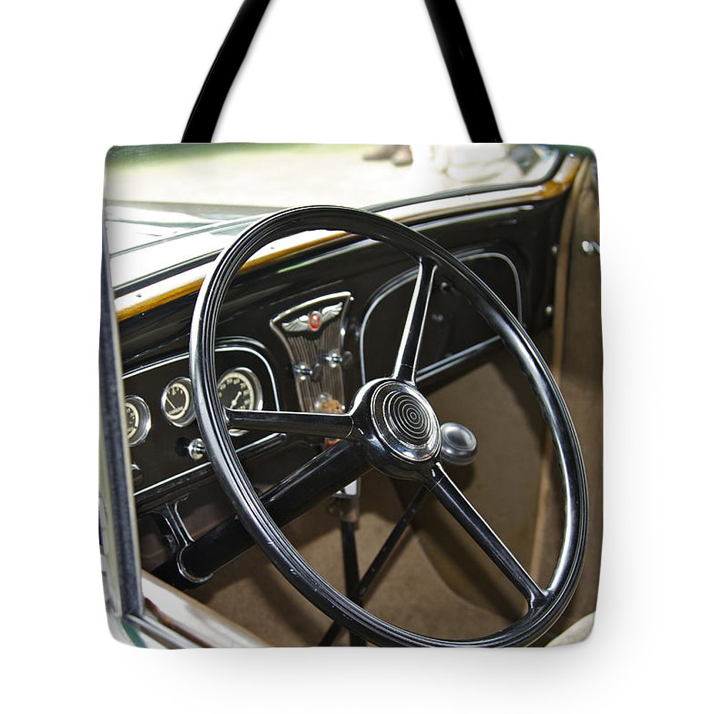 Antique Tote Bag featuring the photograph 1933 Pontiac by Jack R Perry