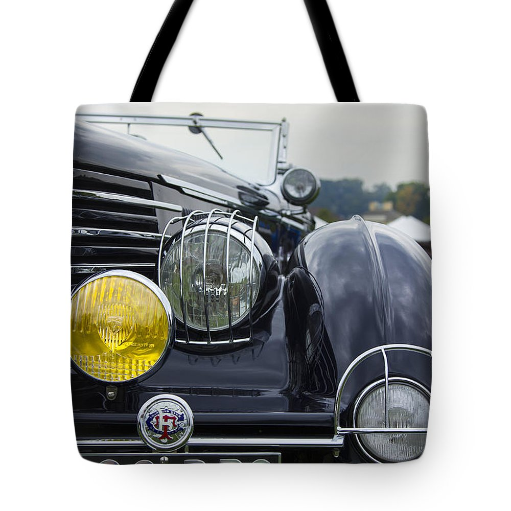 Antique Tote Bag featuring the photograph 1935 Delage by Jack R Perry