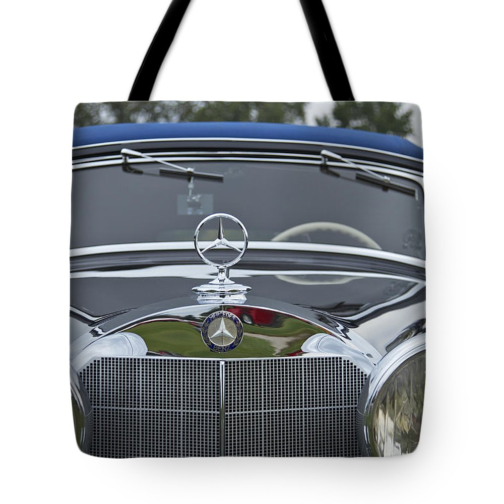 Antique Tote Bag featuring the photograph 1937 Mercedes Benz by Jack R Perry