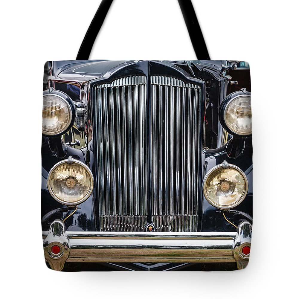 1937 Packard Tote Bag featuring the photograph 1937 Packard Super 8 by Mike Penney