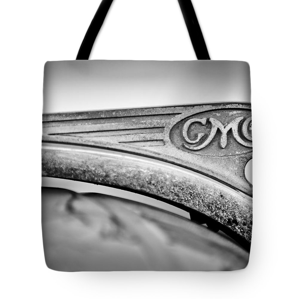 1938 Gmc Hood Ornament Tote Bag featuring the photograph 1938 Gmc Hood Ornament by Jill Reger