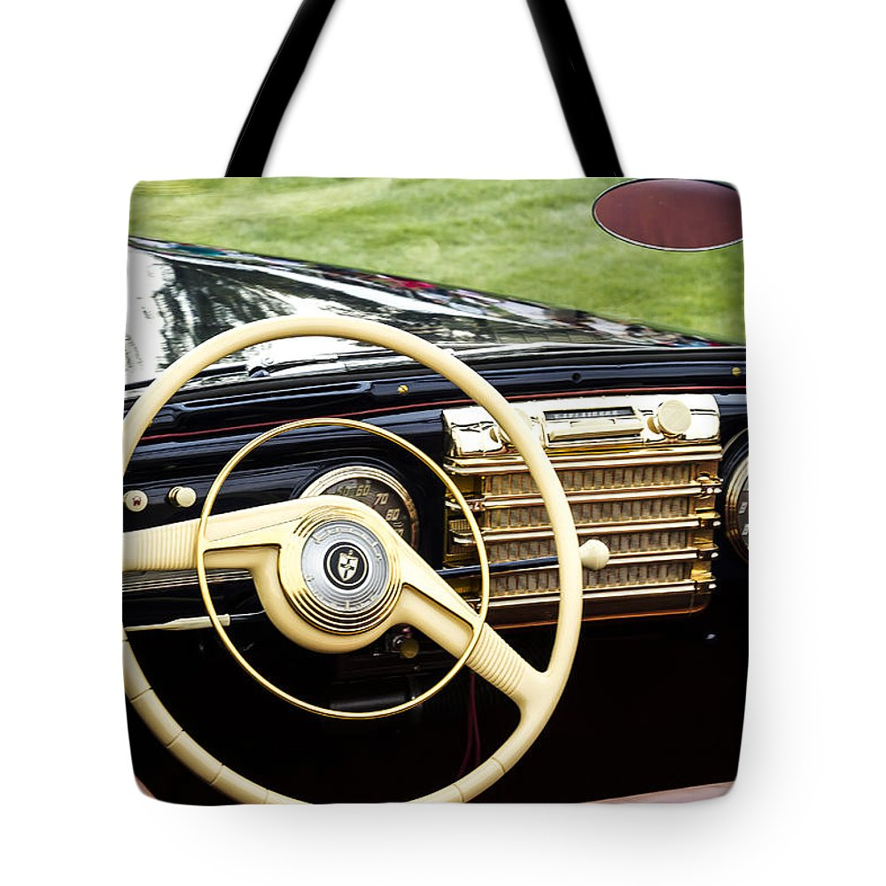 Antique Tote Bag featuring the photograph 1942 Lincoln by Jack R Perry