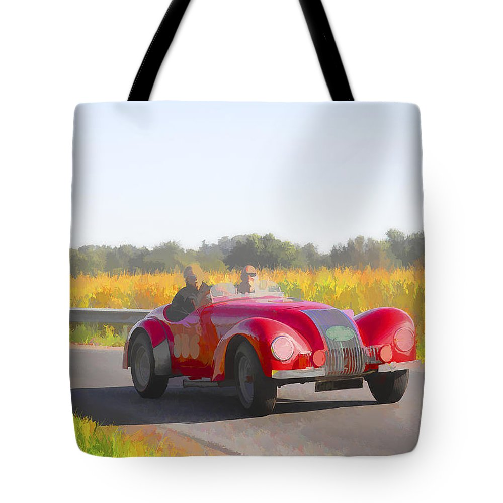 Allard Tote Bag featuring the photograph 1947 Allard K1 Roadster by Jack R Perry