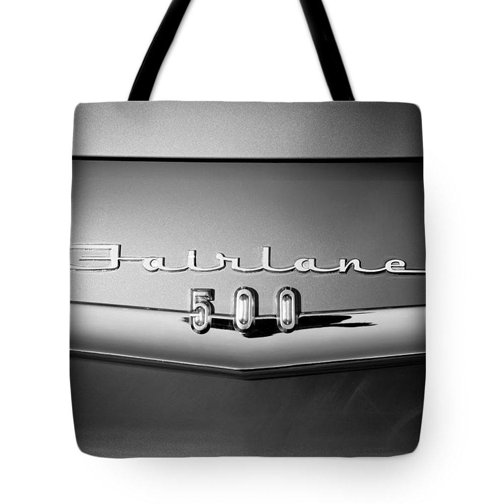 1959 Ford Fairlane 500 Emblem Tote Bag featuring the photograph 1959 Ford Fairlane 500 Emblem by Jill Reger