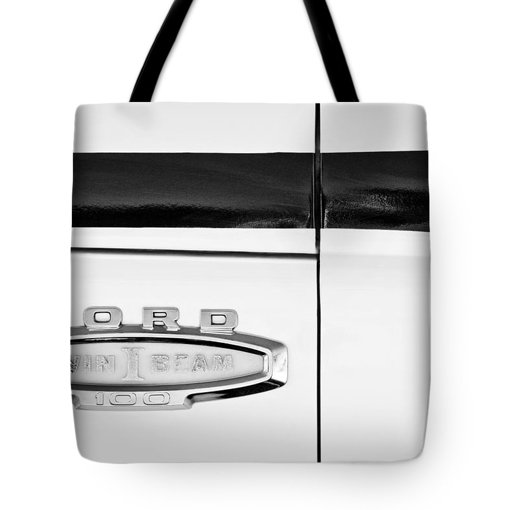 1966 Ford Pickup Truck Emblem Tote Bag featuring the photograph 1966 Ford Pickup Truck Emblem by Jill Reger