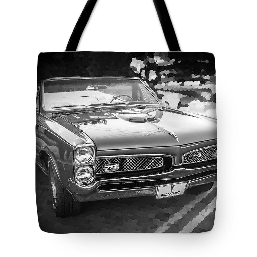 1967 Pontiac Gto Tote Bag featuring the photograph 1967 Pontiac Gto Bw by Rich Franco