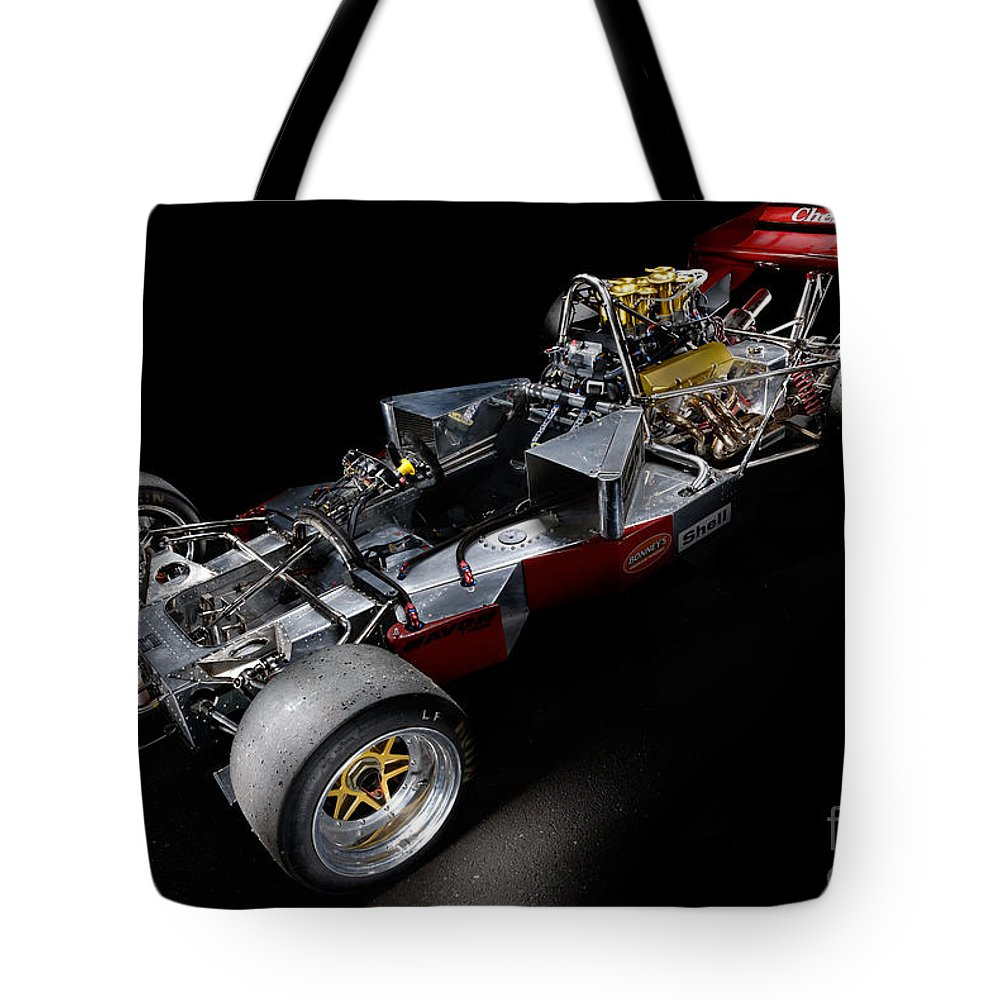 1974 Tote Bag featuring the photograph 1974 Lola T332 F5000 Race Car V8 5 Litre Chassis by Frank Kletschkus