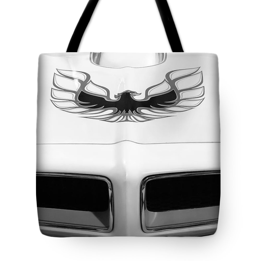 1975 Pontiac Trans Am Firebird Hood Painting Tote Bag For Sale By Featuring The Photograph
