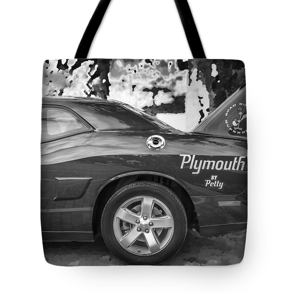 2010 Plymouth Superbird Tote Bag featuring the photograph 2010 Plymouth Superbird Bw by Rich Franco