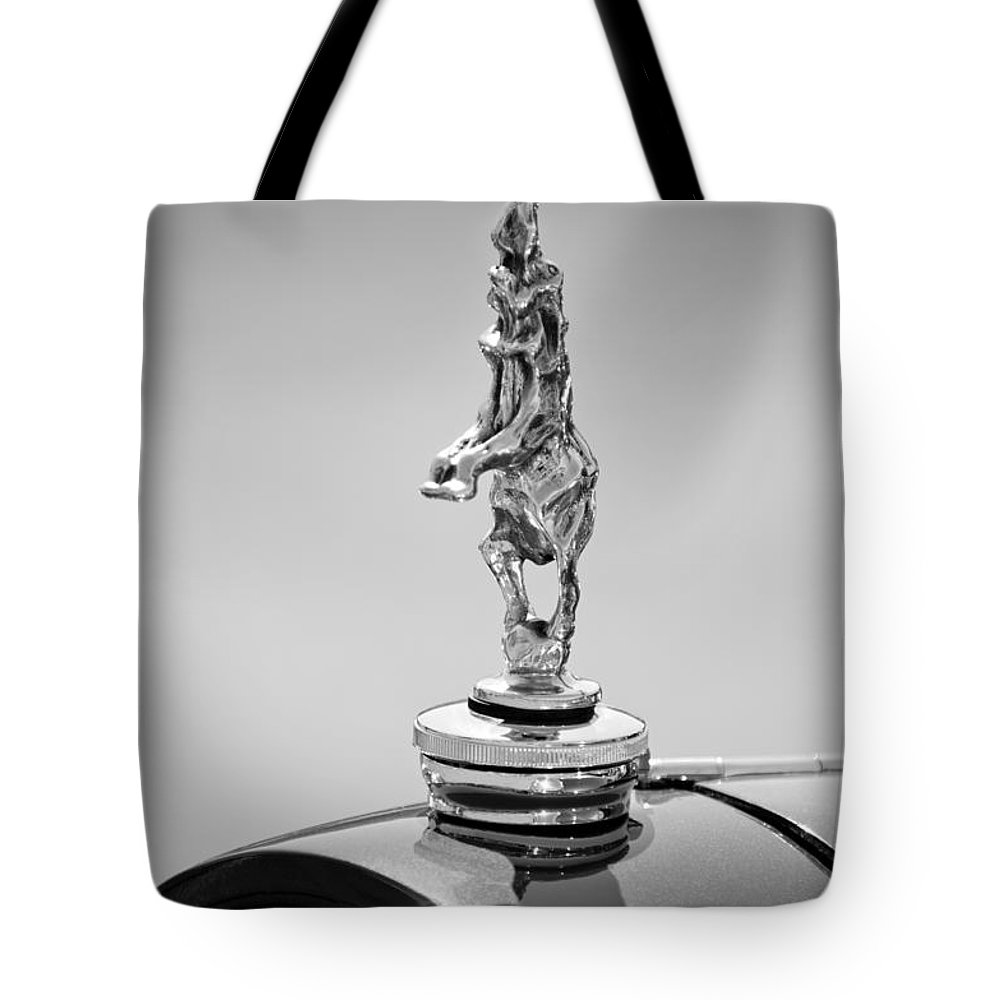 2012 Santarsiero Atlantis Concept Hood Ornament Tote Bag featuring the photograph 2012 Santarsiero Atlantis Concept Hood Ornament by Jill Reger