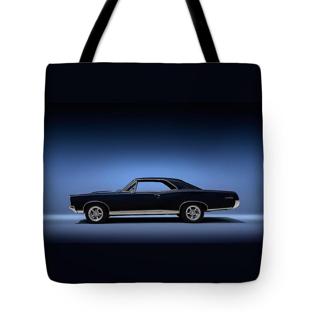 Transportation Tote Bag featuring the digital art 67 Gto by Douglas Pittman