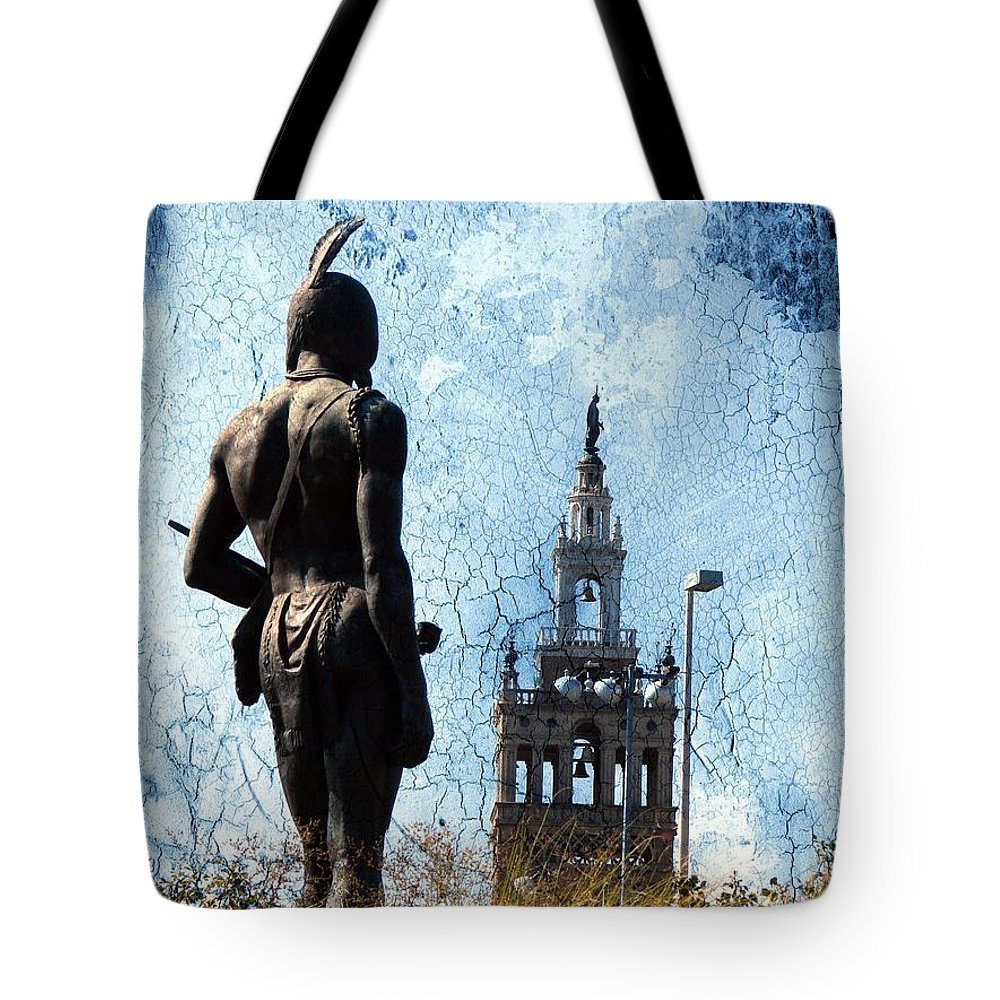 Kansas City Tote Bag featuring the digital art A Plaza View by Cassie Peters