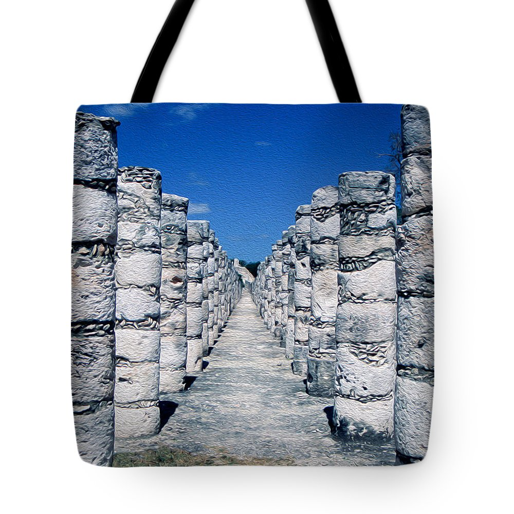 America Tote Bag featuring the digital art A Thousand Columns by Roy Pedersen