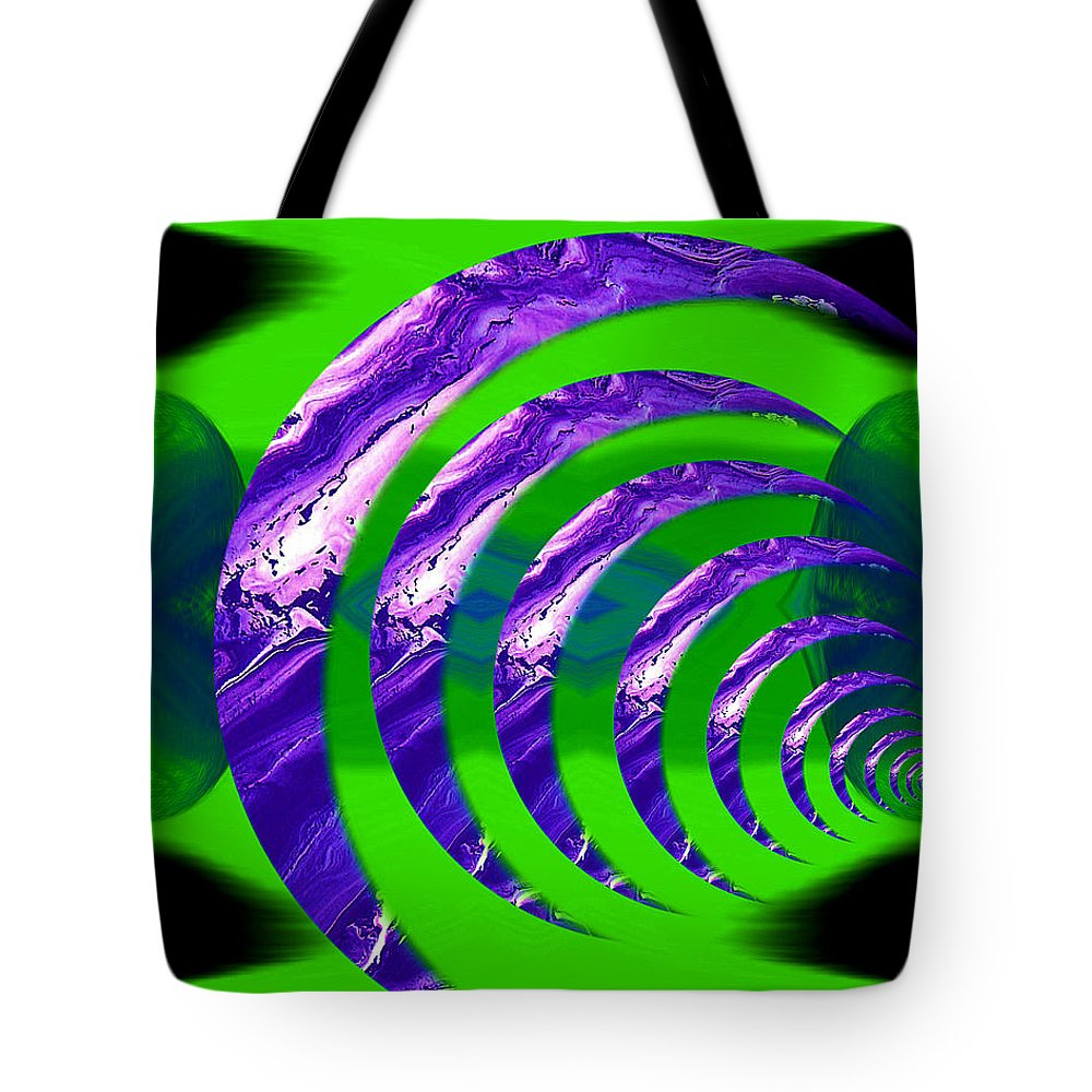 Original Tote Bag featuring the painting Abstract 123 by J D Owen