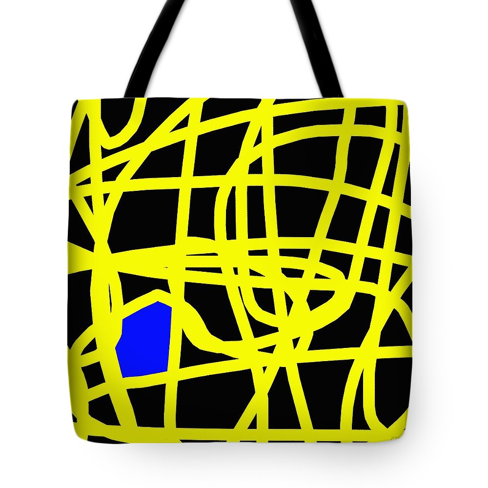 Abstract Tote Bag featuring the painting Abstract 231 by Patrick J Murphy
