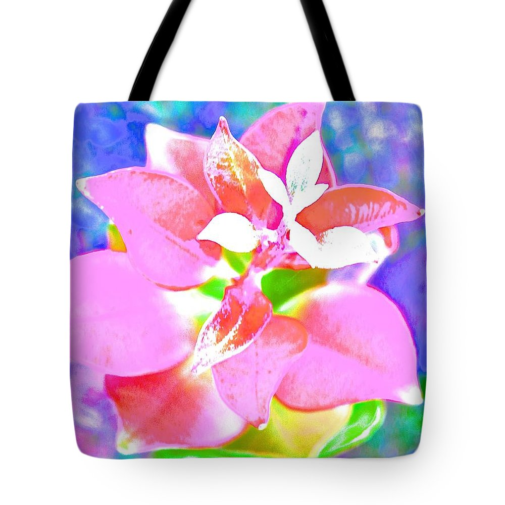 Abstract Tote Bag featuring the photograph Abstract Colorful Plant by Joe Wyman