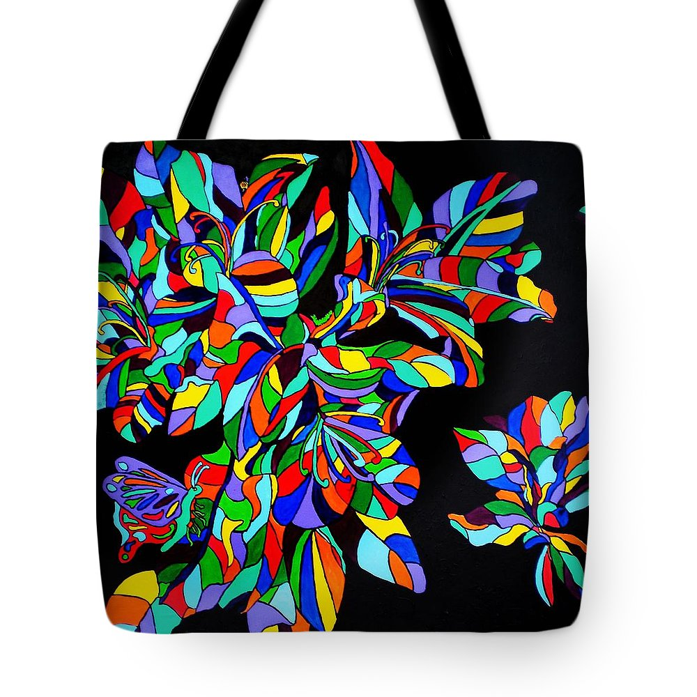 Magnolia Tote Bag featuring the painting Acadiana In Bloom by Claire Decker
