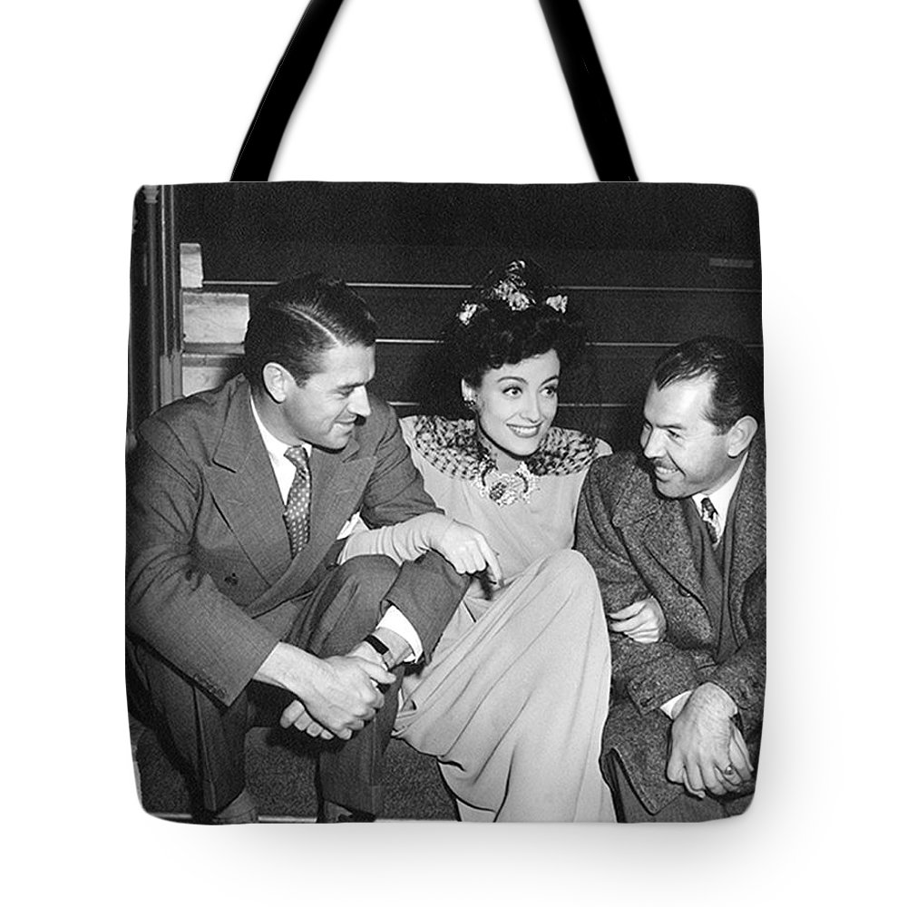 1938 Tote Bag featuring the photograph Actress Joan Crawford by Underwood Archives