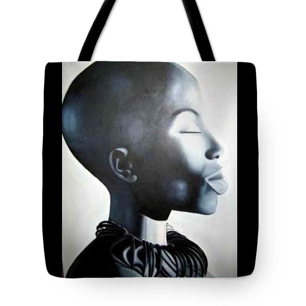 African Tote Bag featuring the painting African Elegance - Original Artwork by Tracey Armstrong