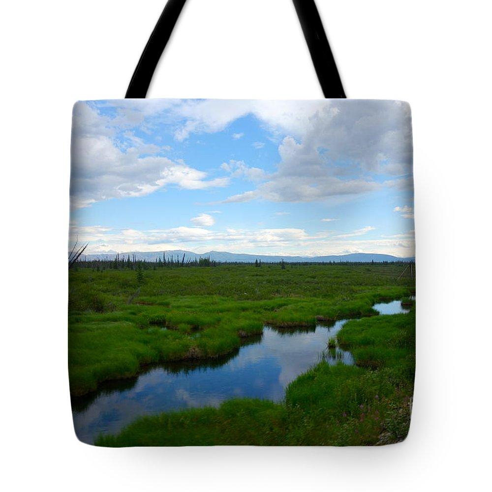 Alaska Tote Bag featuring the photograph Alaskan Tundra by Jacqueline Athmann